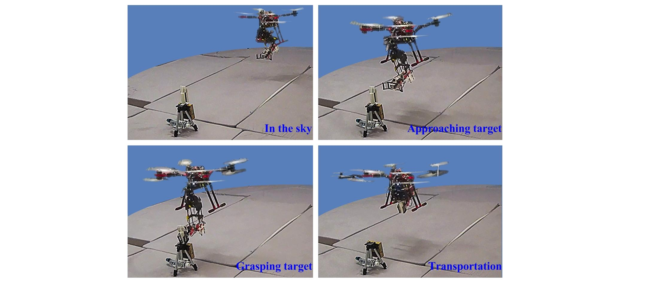 Natural Feature-based Visual Servoing for Grasping Target with an Aerial Manipulator
